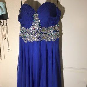 Fiesta Blue Gems Prom Dress